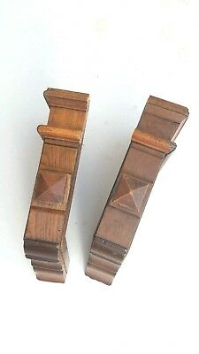 Vintage Corbels Entryway Mantles Mantels Wooden Brackets Shelves Home Accents