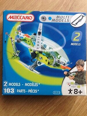 meccano multi models Helicopter and crane