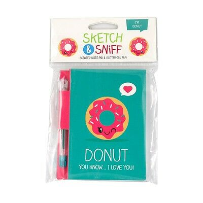 Smencils Donut Sketch and Sniff Pad - Scented Note Pad & Pen