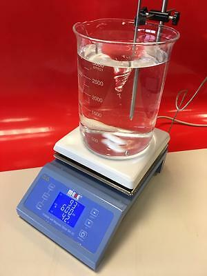 MESE Digital Hotplate Magnetic Stirrer, PID Controller & Timer, 19x19cm Ceramic