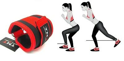 Gym Ankle/Foot Strap Cable Machine Attachment Single -RED ,Ab,Leg & Glute