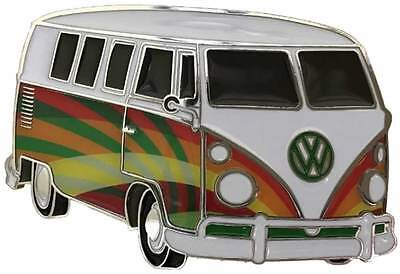 VW Pyschedelic Campervan Officially Licensed Belt Buckle with display stand. V01