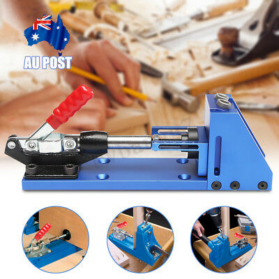 Pocket Hole Drill Jig Portable Woodworking Joinery Tool Kit Drilling System NEW