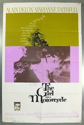 Girl On A Motorcycle - Marianne Faithfull - Original Usa One Sheet Movie Poster