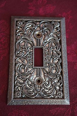 Vtg. Gold Tone Switch Plate Cover