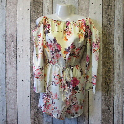 Lauren Pope Floral Playsuit Size 10 (03347141 loc 10) #