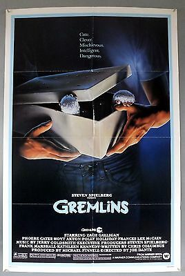 Gremlins -Zack Galligan / Phoebe Cates- Original American One Sheet Movie Poster