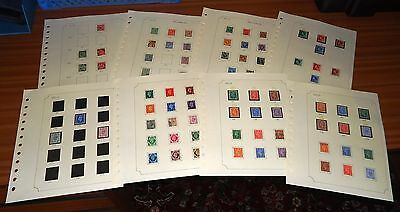 Vintage GREAT BRITAIN British STAMPS 1911 to Elizabeth II Pre 1973 ON SHEETS