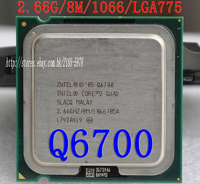 SLACQ CPU 1066//2.66GHz LGA 775 100/% OK HH80562PH0678MK Intel Core 2 Quad Q6700