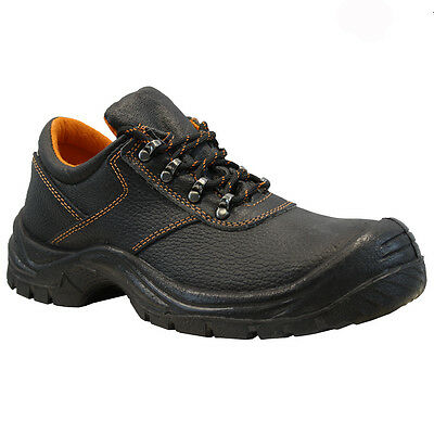 New Mens Leather Safety Work Boots Steel Toe Cap Ankle Hiker Shoes Size Uk 6