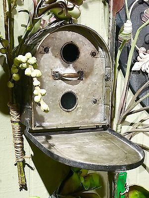 Antique Style Metal Bird House Mail Box