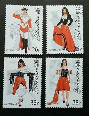 Gibraltar Europa CEPT 1998 Feasts and Festivals Costumes 1998 Attire (stamp) MNH