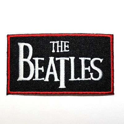 Beatles UK Hard Rock Music Band Punk T-Shirt Bag Clothing Embroidered Iron patch