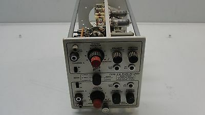 Vintage Tektronix Type Ca Plug-In Unit Dual Trace Calibrated Preamp