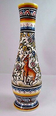 Hand Painted Small Decorative Vase Louca de Coimbra Made in Portugal