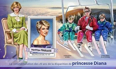 Z08 IMPERFORATED TG17122b TOGO 2017 Princess Diana MNH ** Postfrisch