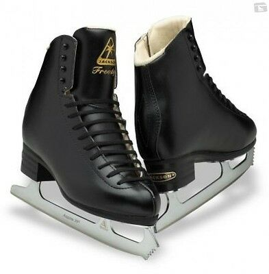 Jackson Freestyle DJ2192 senior Figure Skates Black WITH BLADES - Free Postage