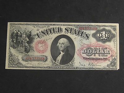 1878 One Dollar $1 Red Seal Large Note
