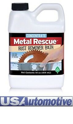 "METAL RESCUE RUST REMOVER BATH CONCENTRATE 414ML""Safe On Everything Except Rust"""