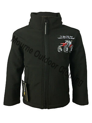 Kids Children's Massey Ferguson Tractor Regatta Full Zip Soft Shell Jacket Coat