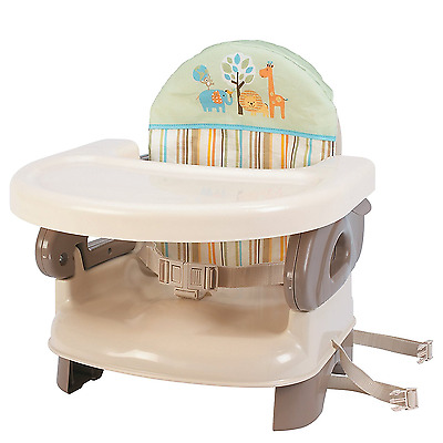 Summer Infant Deluxe Comfort Portable Booster Seat High Chair Baby Feeding Tan