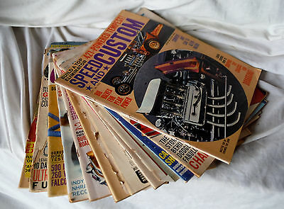 Lot of 7 1960s CARS The Automotive Magazines + 4 Extra Vintage Car Mags from 60s
