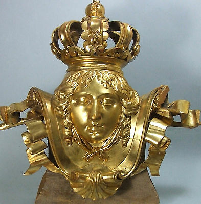 Antique Italian Baroque Figural Carved Gilded Wood Sculpture