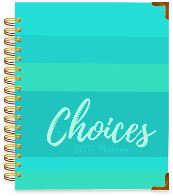 The Choices Notebook 12-Month Planner 2017 -Sassy Stripes-