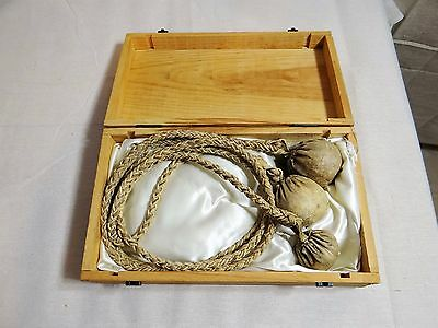 Authentic Gaucho Boleadora (Bolas) in a Satin-lined Wooden Presentation Box 1975