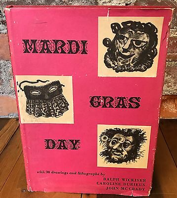 Rare 40s Era MARDI GRAS DAY Book Drawings Lithos Wickiser Durieux McCrady 1948