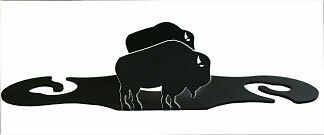 VILL-CURSB142-Village Wrought Iron Buffalo Wine Caddy