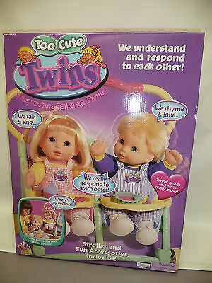 Too Cute Twins NRFB Interactive Talking Dolls by DSI Toys