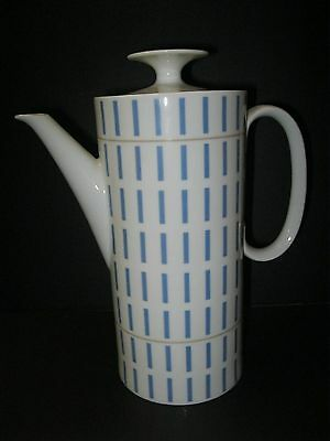 Vintage Mid Century Thomas Porcelain Coffee Pot - Rosenthal Germany Steel Blue