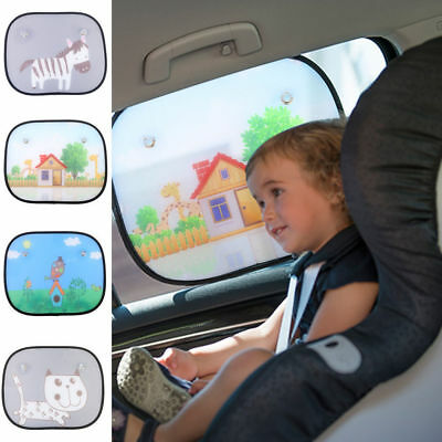 2Pcs Faddish Baby Car Side Window Sun Shade Kids Sunshade Shield Cover Anti-Uv