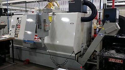 """Used Haas SL-30M CNC Live Tool Turning Center Lathe Tailstock 10"""" Chuck 2005"""