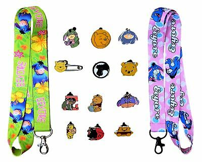 Eeyore Starter Lanyard Set with 5 Themed Disney Park Trading Pins ~ Brand NEW