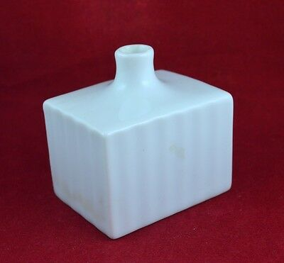 ANTIQUE GERMAN PORCELAIN INK BOTTLE INKWELL 19th CENTURY - EXCELLENT CONDITION