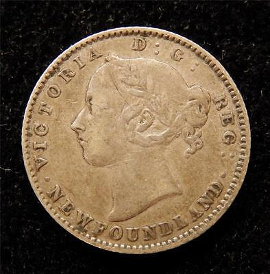 Canada Newfoundland 1888 10 Cents Sterling Silver Coin F156F