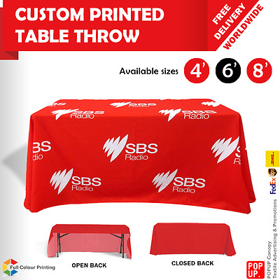 4ft,6ft,8ft Table Cover Throw Custom Printed, Trade Shows, Market Stalls, EXPOs