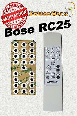 Bose RC-25 **BUTTON REPAIR KIT** Remote For Lifestyle Model 20 25 & 30 RC25
