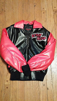 Authentic BETTY BOOP Collectible LEATHER Biker Jacket SZ SMALL