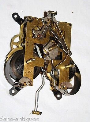 Vintage brass clock movement - Southern Made in Korea - plus chime coil
