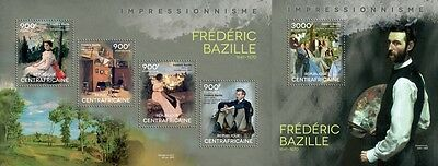 CA14404ab Central Africa 2014 Frederic Bazille MNH SET