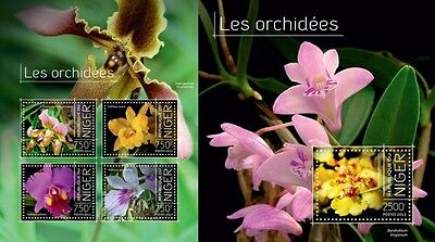 NIG13719ab Niger 2013 orchids orchidees MNH SET