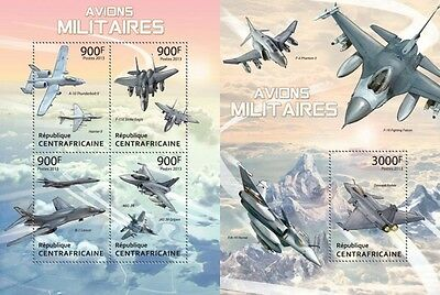 CA13316ab Central Africa 2013 Military Planes MNH SET