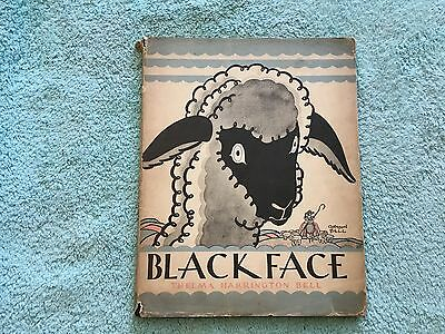 Black Face by Thelma Harrington Bell 1931 Picture Book 1st edition Children's DJ