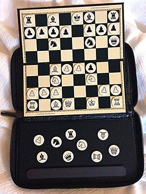 The ChessMate Wallet used in Bobby Fisher Movie Magnetic Travel Chess Board