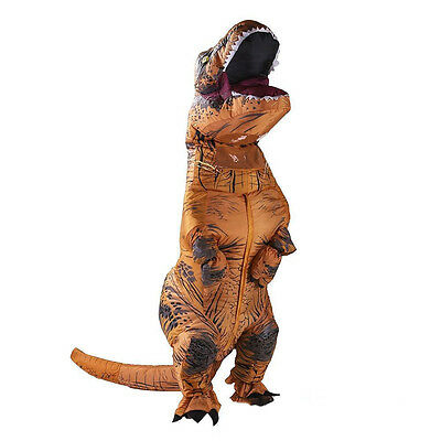 Inflatable Dinosaur Costume Adult T-Rex Jurassic Halloween Fancy Cosplay Dress