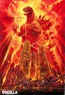 GODZILLA, KING OF THE MONSTERS Movie POSTER Art Print 36x24inch