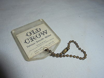 Vintage Old Crow Kentucky Whiskey Vari-Vue key chain